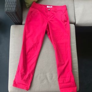 Hot pink ankle skinny pant